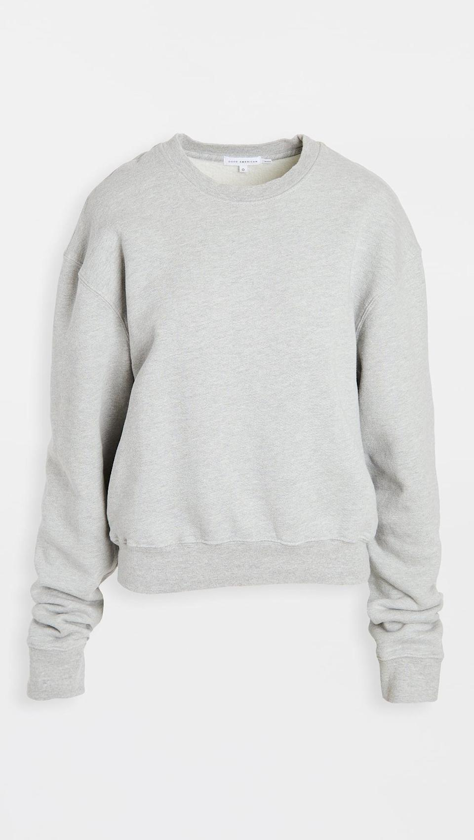 <p>There's pretty much nothing not to like about this <span>Good American Active Boyfriend Sweatshirt</span> ($85).</p>