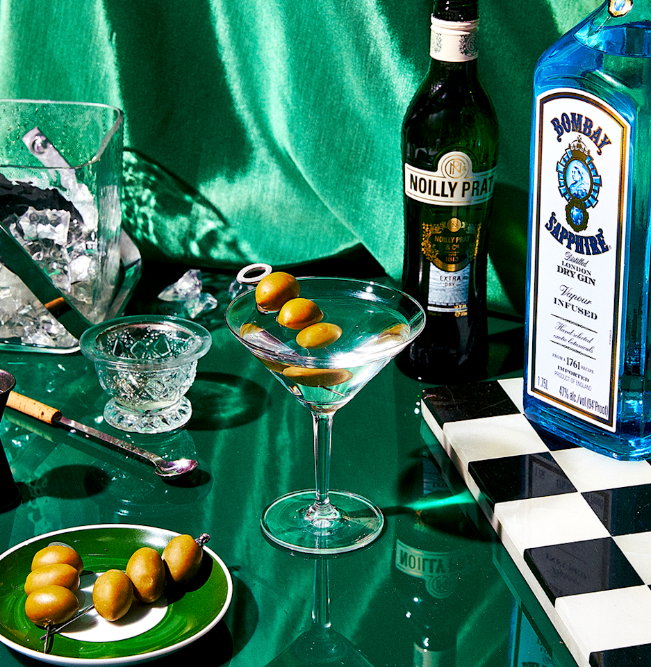"""<p><em>Just imagine sipping this bitingly cold, bracing martini while coolly eyeing your conspiracy theorist aunt over its rim. </em></p><p><strong>Ingredients</strong><br>• 1 oz. dry vermouth<br>• 4 oz. gin<br>• 1 cocktail glass<br>• Olives or lemon twist</p><p><strong>Directions</strong><br>Fill a metal shaker with cracked ice. Pour in the dry vermouth, stir briefly, and strain out (this may be discarded). Add 4 ounces of gin (you want it around 94-proof). Stir briskly for about 10 seconds. Strain into a chilled cocktail glass, and garnish with an olive or a lemon twist.</p><p><a class=""""body-btn-link"""" href=""""https://www.esquire.com/food-drink/drinks/recipes/a3667/martini-drink-recipe/"""" target=""""_blank"""">Read More</a></p>"""