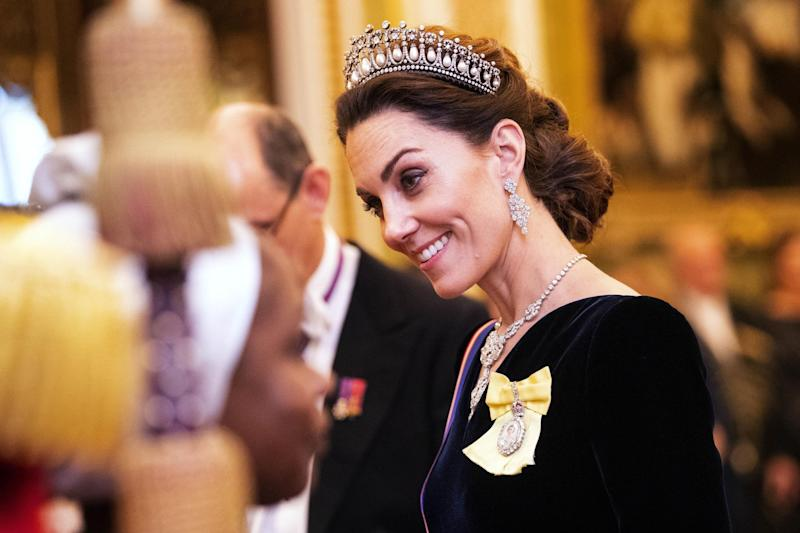 The Duchess of Cambridge wearing the Lover's Knot tiara (Getty Images)