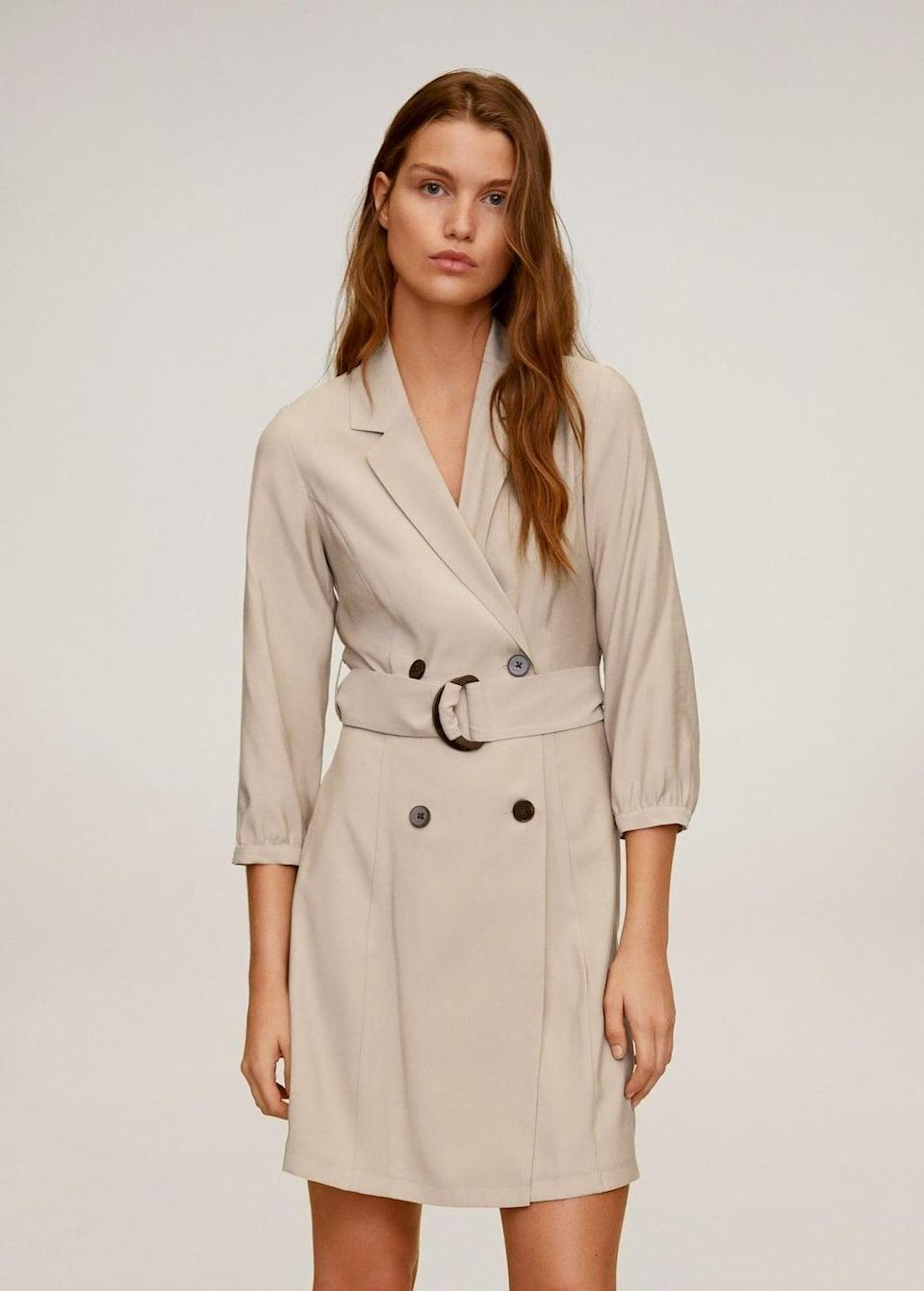 <p>This <span>Buttoned wrap dress</span> ($70) will be your go-to for socially distanced lunch dates or walks in the park.</p>