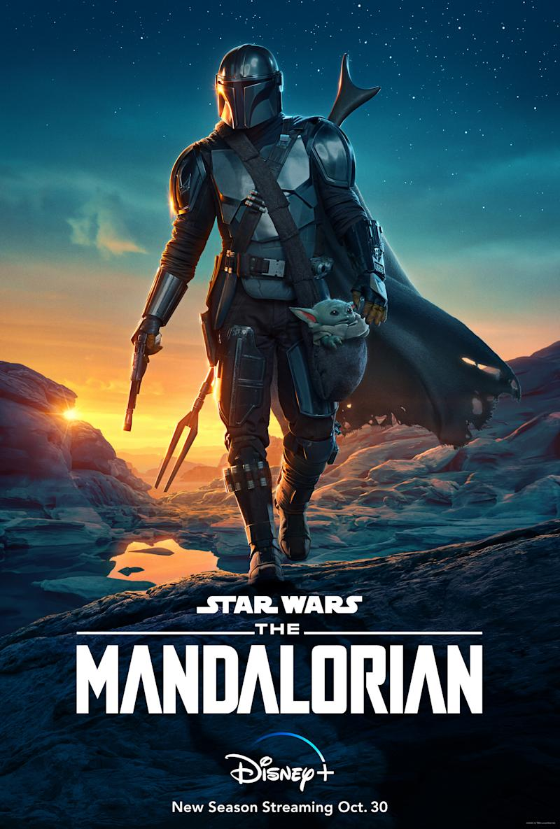 Key art for the second season of The Mandalorian. (Lucasfilm/Disney+)