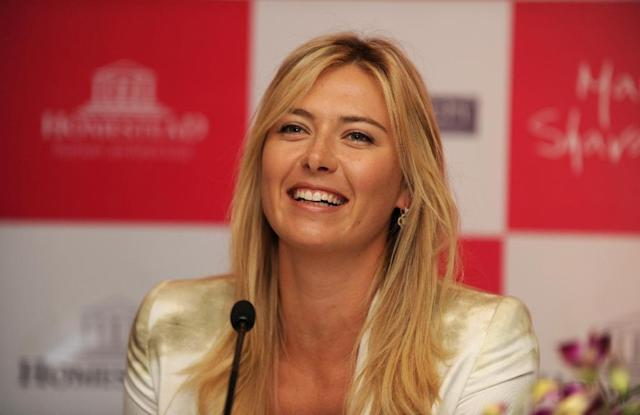 Sharapova travelled to India in 2012 to launch the luxury high-rise complex (AFP Photo/SAJJAD HUSSAIN)