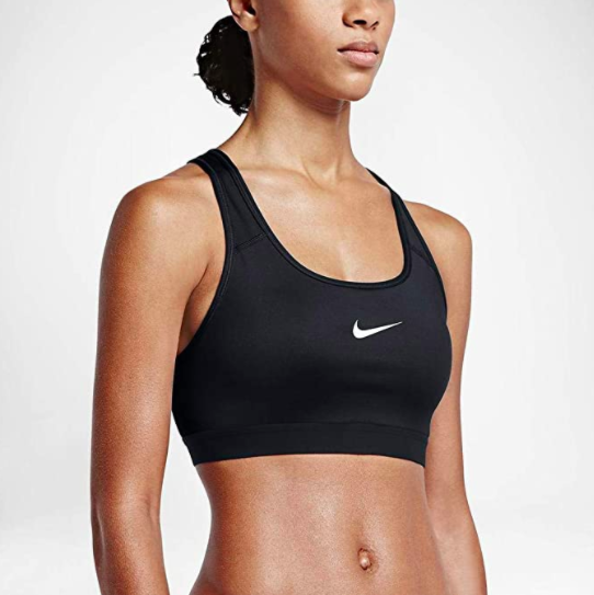 """<h2>Best Bra for Boot-camp</h2> <strong>Nike Women's Dri-fit Pro Classic Padded Giraffe Bra</strong> <br><br>A tried and true option that's frequently on sale, this racerback, padded piece will keep the girls in place, whether you're doing high-knees, sit-us, or burpees <br><br><strong>Nike</strong> Nike Women's Dri-fit Pro Classic Padded Giraffe Bra, $, available at <a href=""""https://www.amazon.com/dp/B000UGZDXI"""" rel=""""nofollow noopener"""" target=""""_blank"""" data-ylk=""""slk:Amazon"""" class=""""link rapid-noclick-resp"""">Amazon</a><br><br>"""