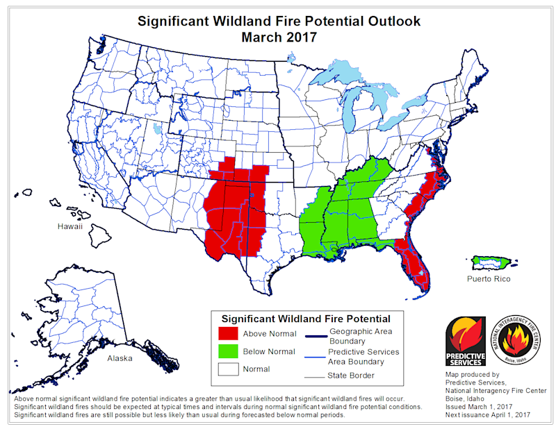 march fire outlook