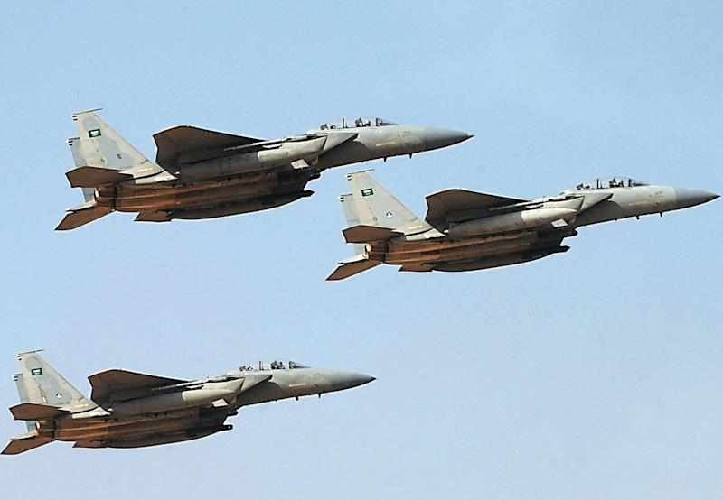 Jet fighters of the Saudi royal air force: Getty