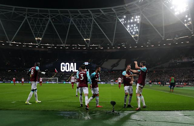 Plenty of empty seats could be seen at West Ham's win over West Brom in January