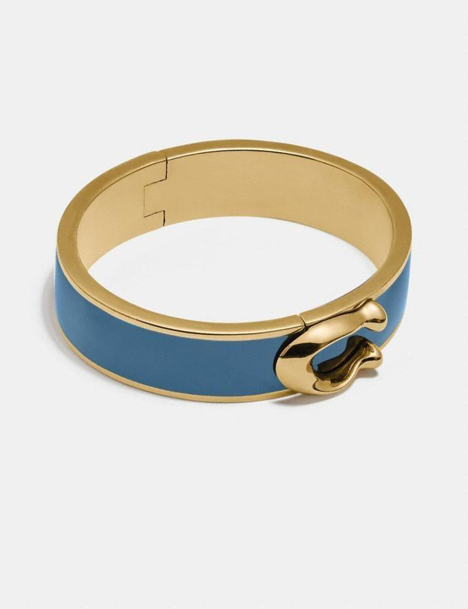 <p>I love the colorful pop of this <span>Signature Large Hinged Bangle</span> ($125).</p>