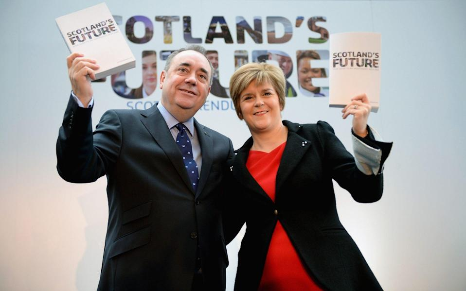 Nicola Sturgeon and Alex Salmond before they fell out - Jeff J Mitchell/Getty