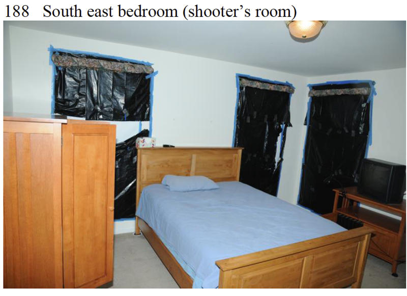 "This image contained in the ""Appendix to Report on the Shootings at Sandy Hook Elementary School and 36 Yogananda St., Newtown, Connecticut On December 14, 2012"" and released Monday, Nov. 25, 2013, by the Danbury, Conn., State's Attorney shows a scene at 36 Yogananda St., where gunman Adam Lanza lived with his mother in Newtown, Conn. Lanza opened fire inside the school killing 20 first-graders and six educators before killing himself as police arrived. (AP Photo/Office of the Connecticut State's Attorney Judicial District of Danbury)"