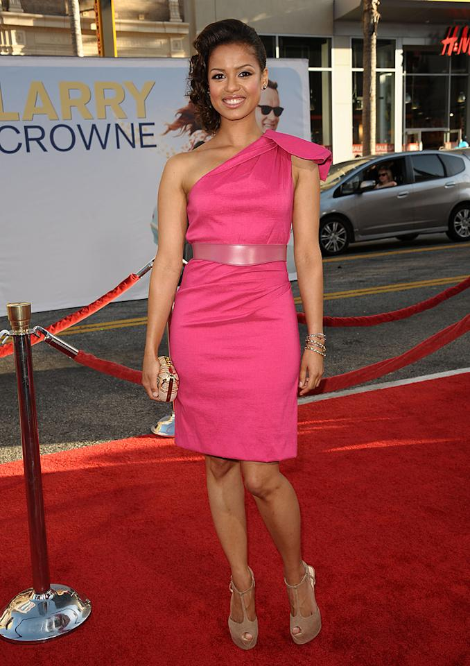 "<a href=""http://movies.yahoo.com/movie/contributor/1809859522"">Gugu Mbatha-Raw</a> at the Los Angeles premiere of <a href=""http://movies.yahoo.com/movie/1810196533/info"">Larry Crowne</a> on June 27, 2011."