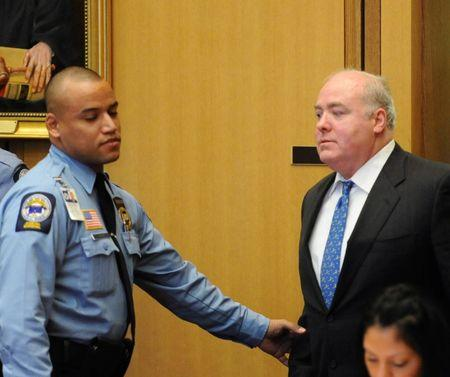 FILE PHOTO: Michael Skakel enters court for his bail hearing at Stamford Superior Court in Stamford, Connecticut
