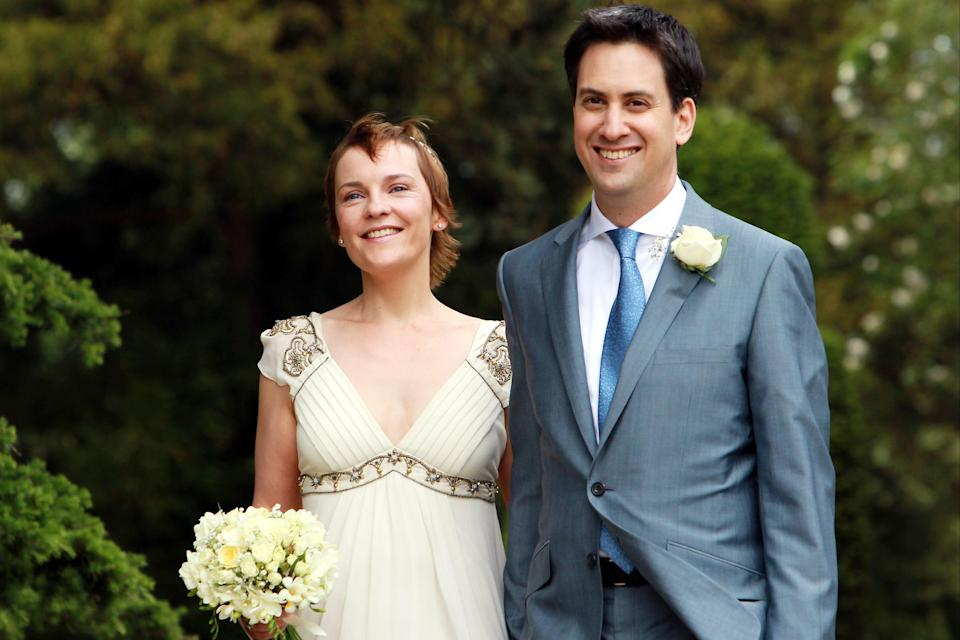 Ed Miliband and Justine Thornton on their wedding day (Getty Images)