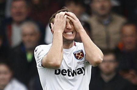 West Ham United's Mark Noble looks dejected