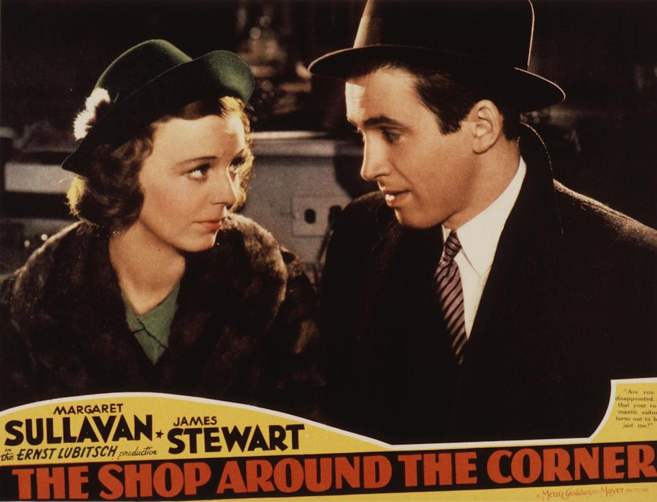 'The Shop Around the Corner' starring Margaret Sullavan and James StewartMGM/Kobal/Shutterstock