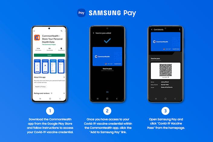 A Vaccine Pass feature has been added to Samsung Pay. (Samsung)