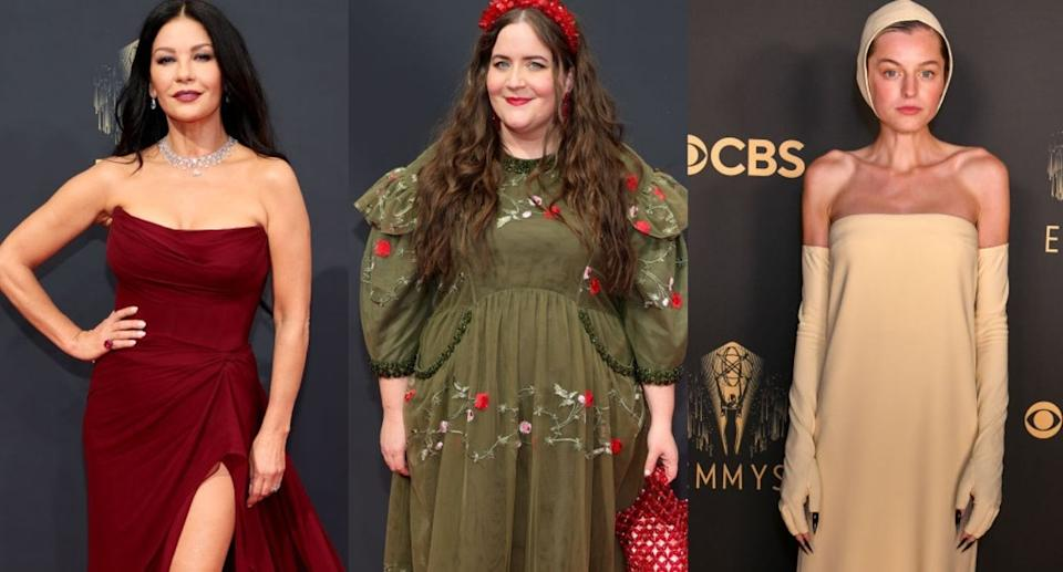 Who did Yahoo Canada readers choose as the best and worst dressed of the 2021 Emmy Awards? (Images via Getty Images)