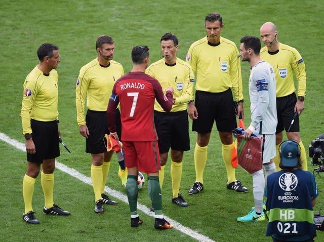 Clattenburg refereed the Euro 2016 final between Portugal and France (Joe Giddens/PA).