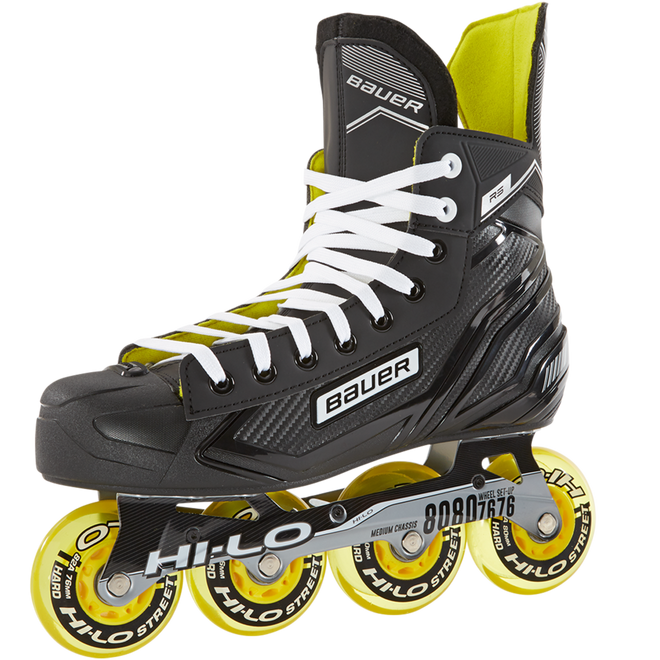 """<p>bauer.com</p><p><strong>$169.99</strong></p><p><a href=""""https://www.bauer.com/en-US/street-roller-hockey/roller-skates/roller-skates-bauer/bauer-rh-rs-skate-senior-665888.html"""" rel=""""nofollow noopener"""" target=""""_blank"""" data-ylk=""""slk:BUY IT HERE"""" class=""""link rapid-noclick-resp"""">BUY IT HERE</a></p><p>If you're a hockey player (or former hockey player), you know Bauer. Besides hockey skates, they also have roller skates. And these Hi-LO Street designed skates are perfect for street hockey, training or recreational skating.</p>"""