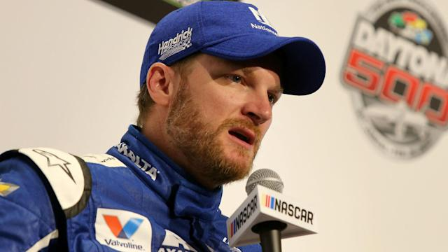 "Dale Earnhardt Jr. said he ""center punched a pine tree"" in a snowstorm Wednesday, but assured fans he is OK."