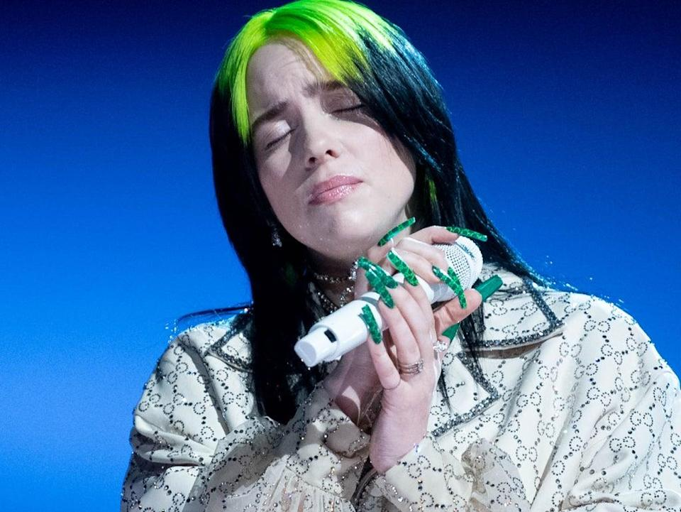 Billie Eilish joined others in calling for animal farming to be officially recognised as a leading cause of climate change  (Getty/The Recording A)