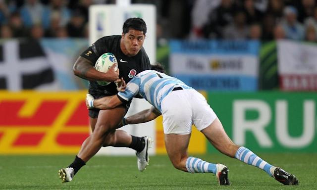 "<span class=""element-image__caption"">Manu Tuilagi is tackled by Gonzalo Tiesi during his World Cup debut against Argentina in Dunedin in 2011.</span> <span class=""element-image__credit"">Photograph: David Davies/PA</span>"