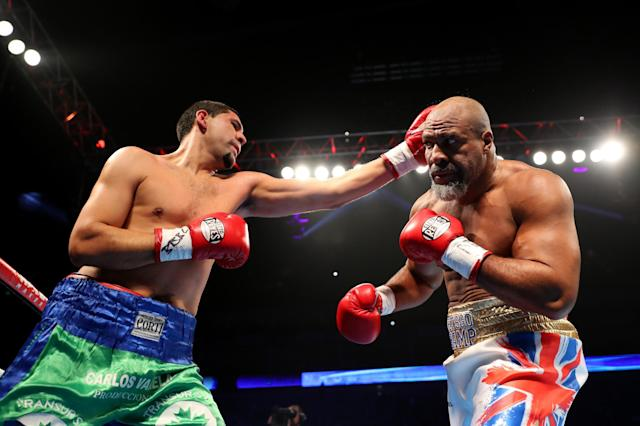 Briggs moved to 60 wins, six defeats and a draw by knocking out Zarate (Getty Images)