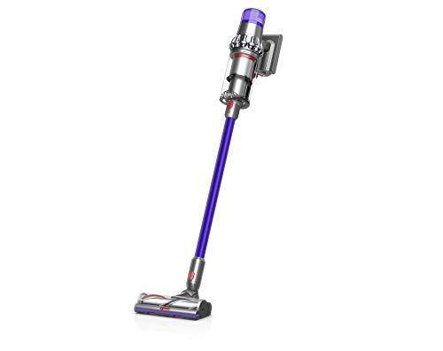 """<p><strong>Dyson</strong></p><p>amazon.com</p><p><strong>$689.95</strong></p><p><a href=""""https://www.amazon.com/dp/B07NX8XBMP?tag=syn-yahoo-20&ascsubtag=%5Bartid%7C10055.g.27206827%5Bsrc%7Cyahoo-us"""" rel=""""nofollow noopener"""" target=""""_blank"""" data-ylk=""""slk:Shop Now"""" class=""""link rapid-noclick-resp"""">Shop Now</a></p><p>This vacuum <strong>automatically adjusts its suction according to whatever surface you're vacuuming,</strong> whether you're running it over high-pile carpet or a wood floor. It also comes with a screen that shows you how much run-time is remaining and how to fix any mechanical problems your vacuum may experience.</p>"""