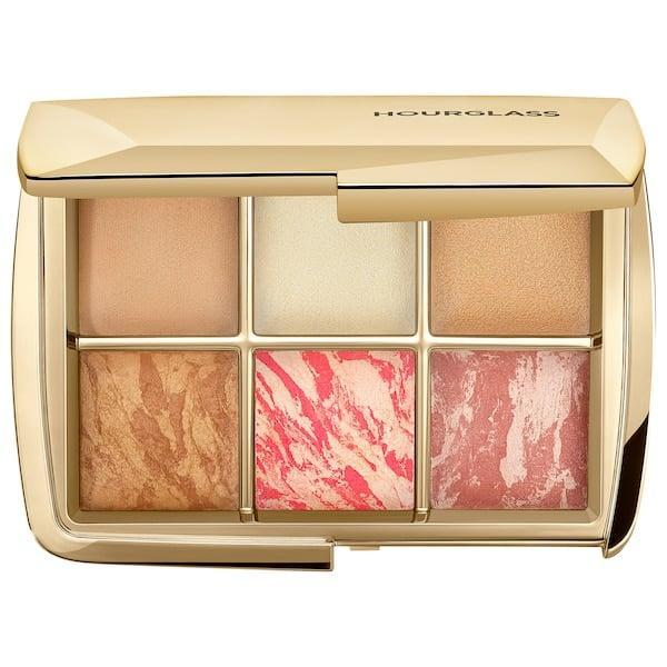 <p>Summer sun may be long gone, but this <span>Hourglass Ambient Lighting Face Palette – Sculpture</span> ($80) still lets skin glow with its finishing powders, blushes, bronzer, and highlighter to brighten and contour year-round.</p>