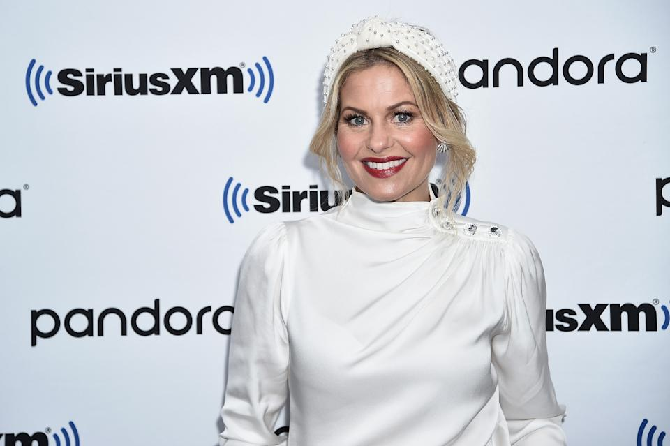 Candace Cameron Bure has returned to work to film her upcoming Hallmark Channel movies. (Photo: Getty Images)
