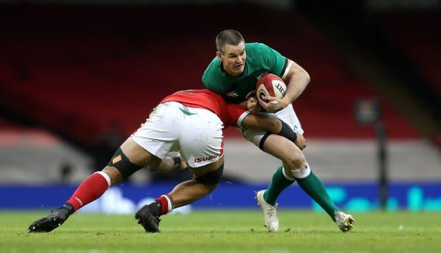 Johnny Sexton in action against Wales