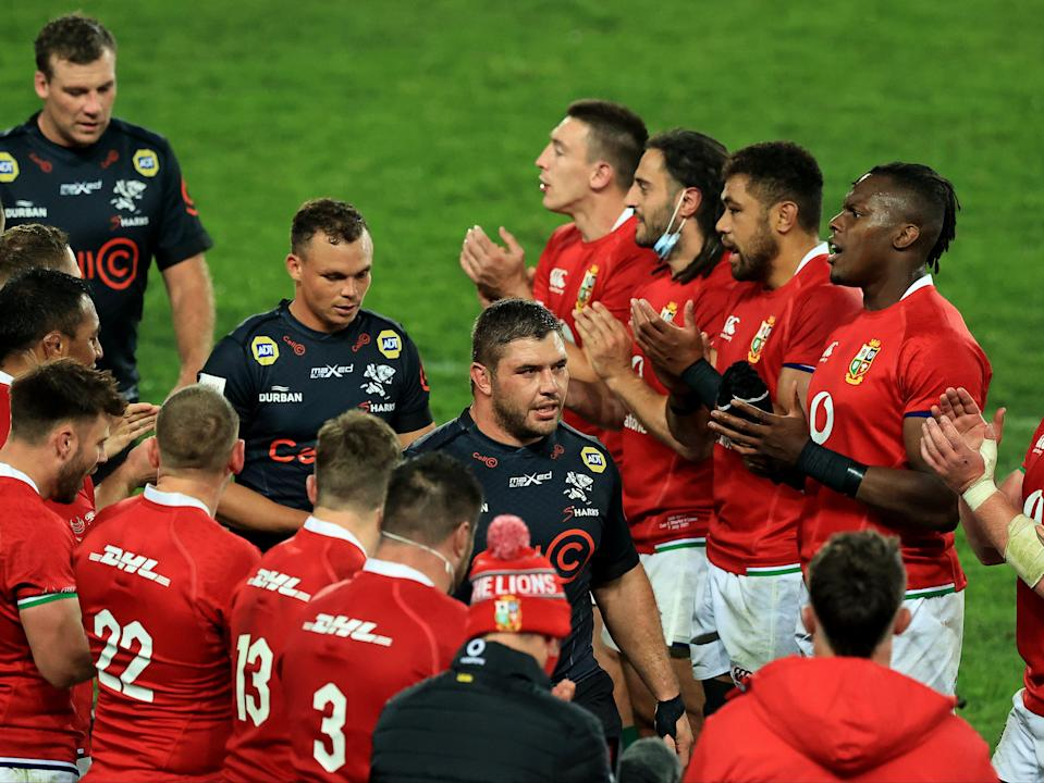 The Lions applaud Sharks players (Getty Images)
