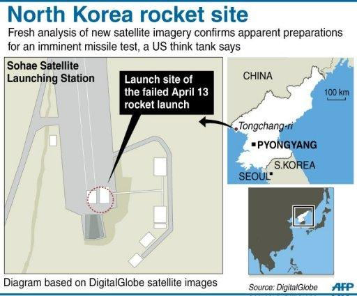<p>Graphic showing the Sohae Satellite Launch Station in North Korea</p>