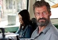 """<p>Hugh Jackman's brooding, brutal <a rel=""""nofollow"""" href=""""https://www.yahoo.com/movies/logan-lets-talk-about-that-final-scene-spoilers-223803097.html?soc_src=mail&soc_trk=ma"""" data-ylk=""""slk:Wolverine swan song;outcm:mb_qualified_link;_E:mb_qualified_link;ct:story;"""" class=""""link rapid-noclick-resp yahoo-link"""">Wolverine swan song</a> proves to be his most profane — and profound — <i>X-Men</i> installment. Essentially a twisted family-road-trip movie, set in post-apocalyptic America, <i>Logan</i> has a surprising heart under all the bleepin' and bloody R-rated action. —<i>M.E.</i> (Photo: 20th Century Fox)<br><br></p>"""
