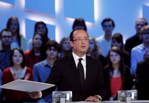 France's Socialist Party (PS) candidate for the 2012 French presidential election Francois Hollande