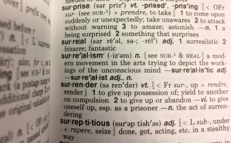 'Surreal' is named 2016 'Word of the Year'