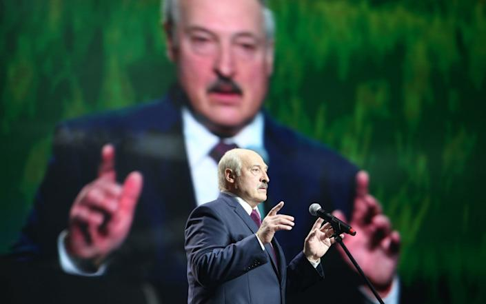 President Lukashenko, who has previously lauded IT workers, has turned on them after the election - AFP