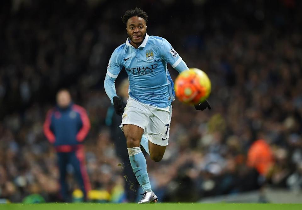 Manchester City's Raheem Sterling chases the ball during the match against Southampton at The Etihad stadium in Manchester, on November 28, 2015 (AFP Photo/Paul Ellis)