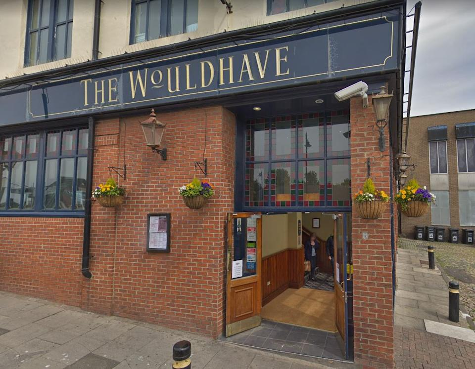 The team were drinking in the Wouldhave pub in South Shields, South Tyneside (Picture: Google)