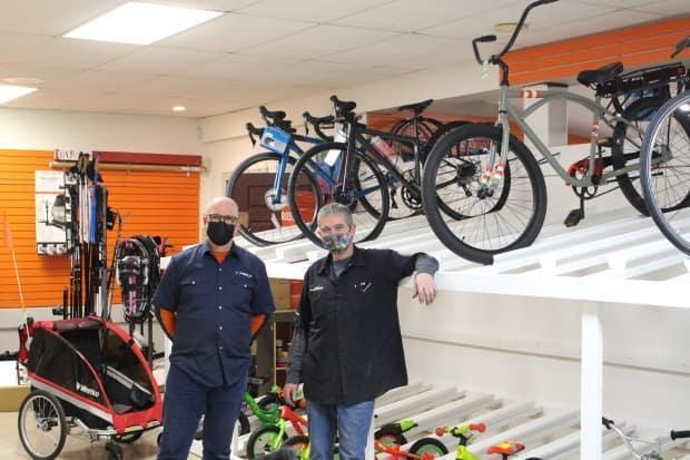 New Brunswick bicycle stores are also struggling to fill the shelves with bicycles this year.