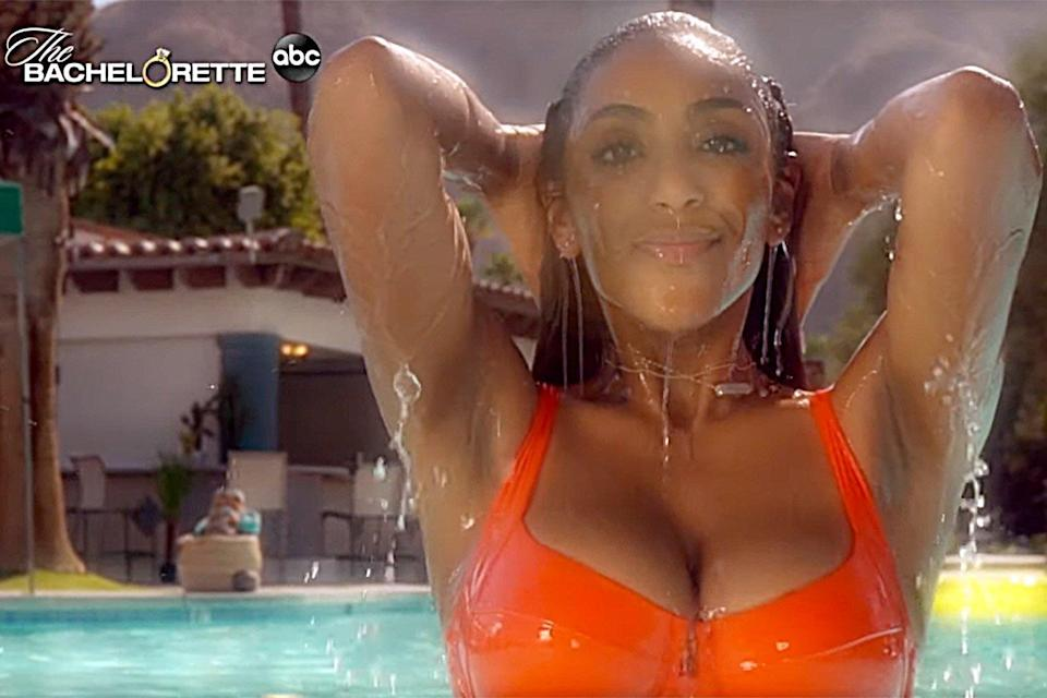 Tayshia Adams Plays Coy About Her Steamy Bachelorette Appearance: 'I Was Just Swimming Around'