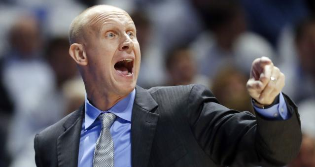 Chris Mack finished 215-97 in nine seasons as Xavier's head coach. (Getty)