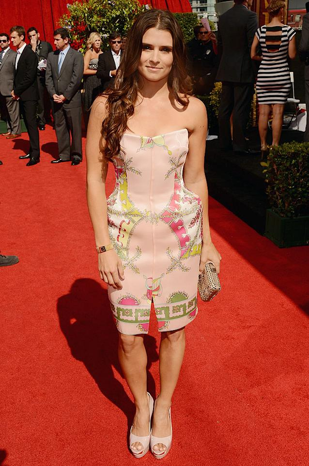 "<p class=""MsoNormal"">Race car driver Danica Patrick arrives at the 2012 ESPY Awards.</p>"