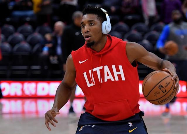 Donovan Mitchell could use a little help to ease his scoring burden. (Getty)