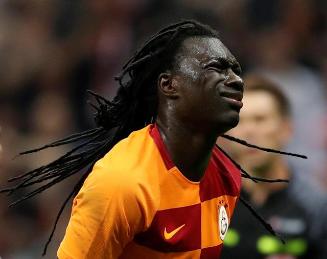 Soccer Football - Turkish Super League - Galatasaray v Besiktas - Turk Telekom Arena, Istanbul, Turkey - April 29, 2018 Galatasaray's Bafetimbi Gomis reacts after missing a penalty REUTERS/Murad Sezer TPX IMAGES OF THE DAY