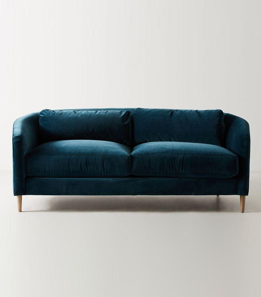 Is there any room that couldn't benefit from a blue sofa?