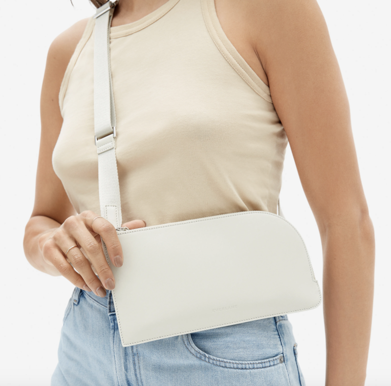 Everlane's The Leather Sling in Bone
