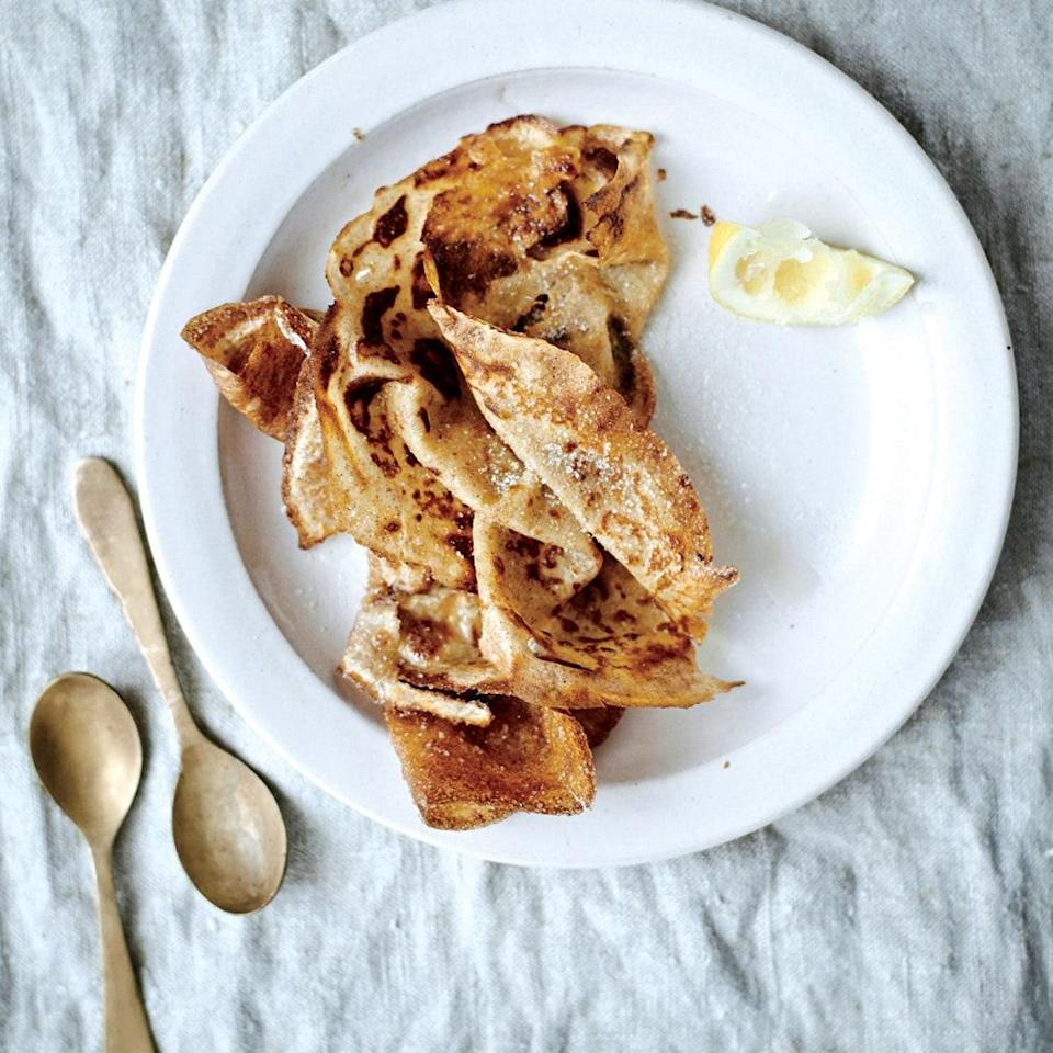"<h1 class=""title"">Buttermilk Rye Crepes</h1> <div class=""caption""> Yes, you could serve these crepes before they've been caramelized in sugar, but why deprive yourself? </div> <cite class=""credit"">Ditte Isager</cite>"