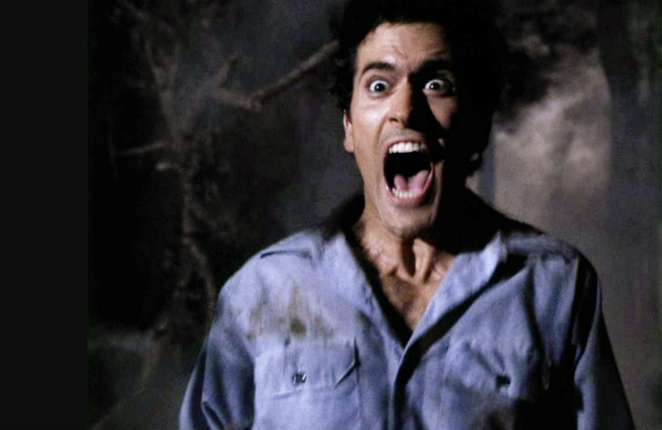 Bruce Campbell in Evil Dead 2 (credit: Palace Pictures)