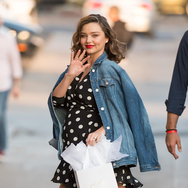 9054c2aeff22b Miranda Kerr Turns a Baby Bump and Bombshell Legs Into the Ultimate  Trimester Win