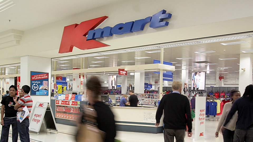 Kmart sign in Australia represents retailers hacks used by mum to hide snacks from kids
